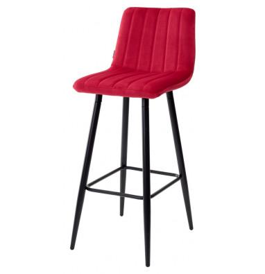 Барный стул DERRY G108-38 винный, велюр