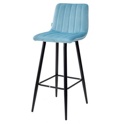 Барный стул DERRY G108-57 пудровый бирюзовый, велюр