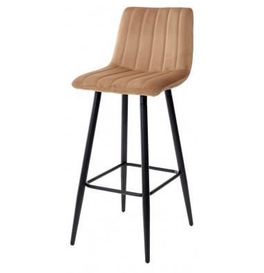 Барный стул DERRY G108-72 тоффи, велюр