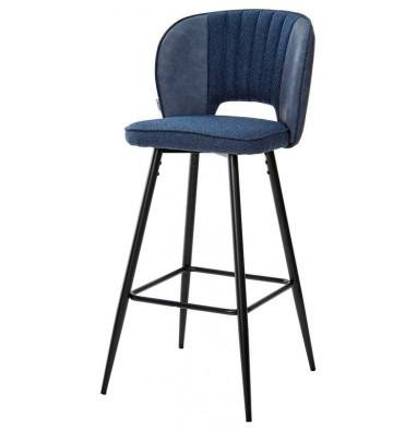 Барный стул HADES TRF-06 полночный синий, ткань/ RU-03 синяя сталь