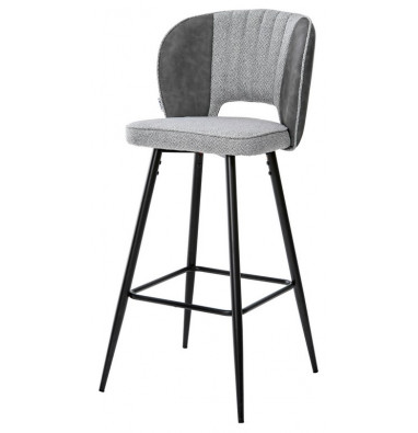 Барный стул HADES TRF-08 теплый серый, ткань/ RU-07 серая сталь