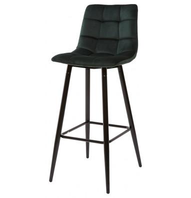 Барный стул LECCO UF910-14 DARK GREEN, велюр