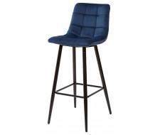 Барный стул LECCO UF910-18 NAVY BLUE, велюр