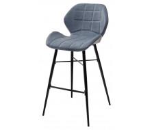 Барный стул MARCEL RU-03 синяя сталь, экокожа