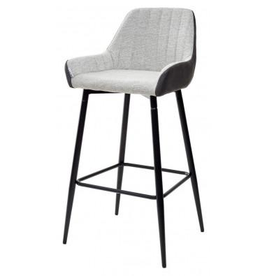Барный стул PUNCH светло-серый меланж FC-01/ экокожа антрацит RU-08