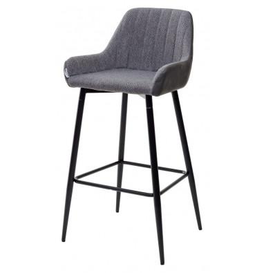 Барный стул PUNCH серый кварц TRF-09/ экокожа антрацит RU-08