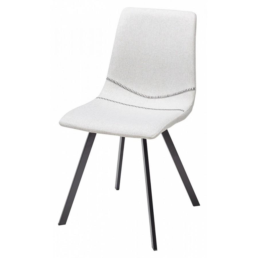 Белые стулья коричневая ткань фото