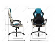 Компьютерное кресло Roketas голубое