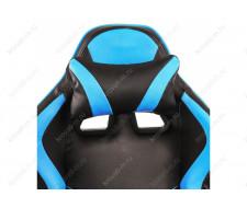 Компьютерное кресло Racer черное / голубое