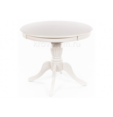 Стол деревянный Toskana 90 молочно-белый