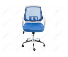 Компьютерное кресло Ergoplus белое / голубое