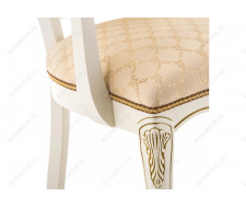 Стул деревянный Руджеро патина золото / бежевый