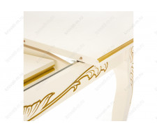 Стол деревянный Мауро патина золото