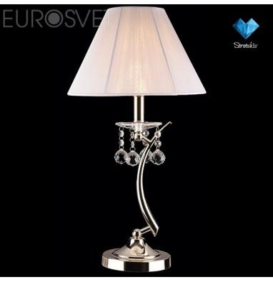 Настенные светильники Настольная лампа с хрусталем 1087/1 золото/белый Strotskis настольная лампа