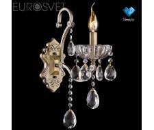 Настенные светильники Бра 3108/1 античная бронза/прозрачный хрусталь Strotskis