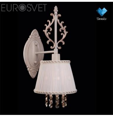 Настенные светильники Бра 22803/1 белый с золотом/прозрачный хрусталь Strotskis