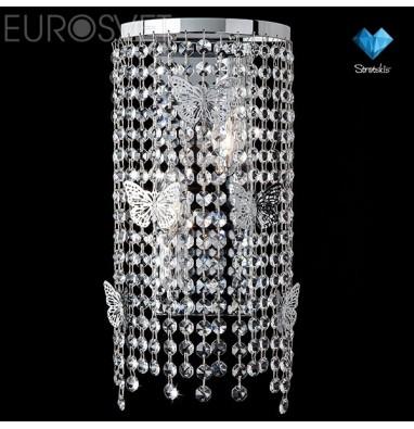 Настенные светильники Бра 10015/2 хром/прозрачный хрусталь Strotskis