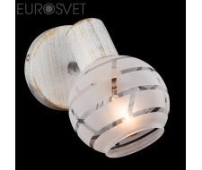 Настенные светильники Спот 20036/1 белый с золотом/хром