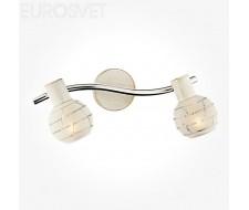 Настенные светильники Спот 20036/2 белый с золотом/хром