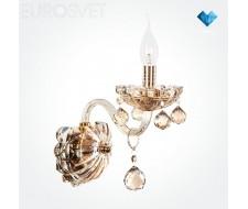 Настенные светильники Бра 10052/1 золото/тонированный хрусталь Strotskis