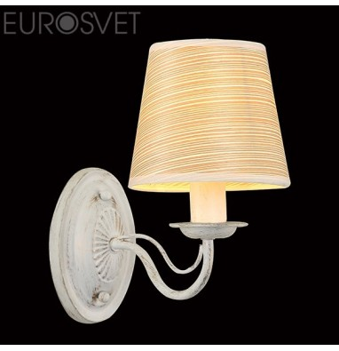 Настенные светильники  60027/1 белый с золотом