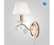 Настенные светильники Бра с хрусталем 10058/1 золото/прозрачный хрусталь Strotskis