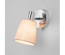 Светильник настенный с выключателем 20080/1 хром/бежевый