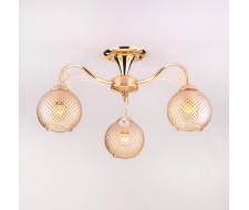 Потолочная люстра со стеклянными плафонами 30139/3 золото