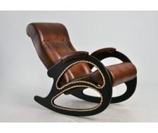 Кресло-качалка Комфорт (мод. 4 Ant. Крокодил/Венге) Коричневый