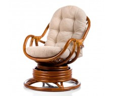 Кресло-качалка Kara с подушкой (S2-LG MATT) Коньячный