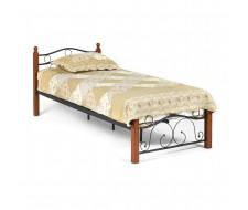 Кровать AT-803 Wood slat base  дерево гевея/металл, 90*200 см