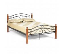 Кровать AT-803 Wood slat base  дерево гевея/металл, 140*200 см