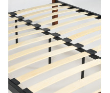 Кровать AT-8077 Wood slat base дерево гевея/металл, 140*200 см