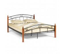 Кровать AT-8077 Wood slat base дерево гевея/металл, 160*200 см