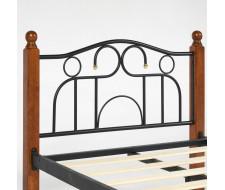 Кровать AT-808 Wood slat base дерево гевея/металл, 90*200 см