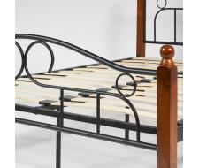 Кровать AT-808 Wood slat base дерево гевея/металл, 120*200 см