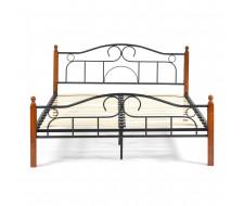 Кровать AT-808 Wood slat base дерево гевея/металл, 160*200 см