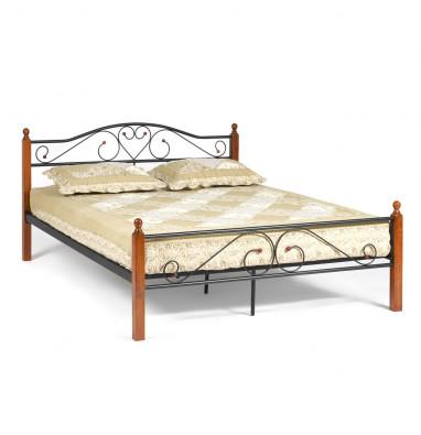 Кровать AT-815 Wood slat base дерево гевея/металл, 160*200 см