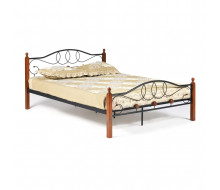 Кровать AT-822 Wood slat base дерево гевея/металл, 160*200 см