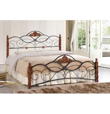 Кровать Canzona 140х200 см черный/красный дуб