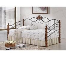 Кровать-софа односпальная Canzona 90х200 черный/красный дуб