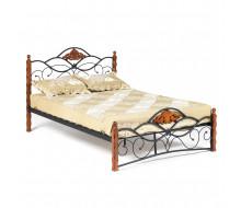 Кровать CANZONA Wood slat base дерево гевея/металл, 120*200 см