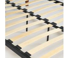 Кровать CANZONA Wood slat base дерево гевея/металл, 140*200 см