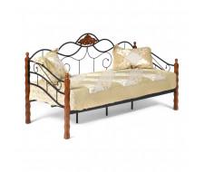 Кровать CANZONA Wood slat base дерево гевея/металл, 90*200 см