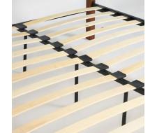 Кровать EUNIS (AT-9220) Wood slat base дерево гевея/металл, 160*200 см