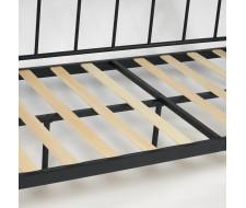 Кровать LANDLER Wood slat base дерево гевея/металл, 90*200 см