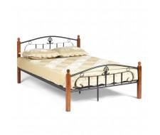 Кровать РУМБА (AT-203)/ RUMBA Wood slat base дерево гевея/металл, 140*200 см