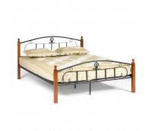 Кровать РУМБА (AT-203)/ RUMBA Wood slat base дерево гевея/металл, 160*200 см