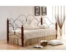 Кровать SONATA Wood slat base дерево гевея/металл, 90*200 см