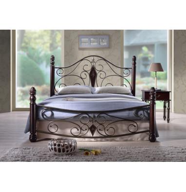 Кровать мод. Dynasty-160х200 Темный орех